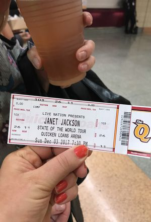 Janet Jackson ticket sec 103 seat11 row 26 1seat for Sale in Cleveland, OH