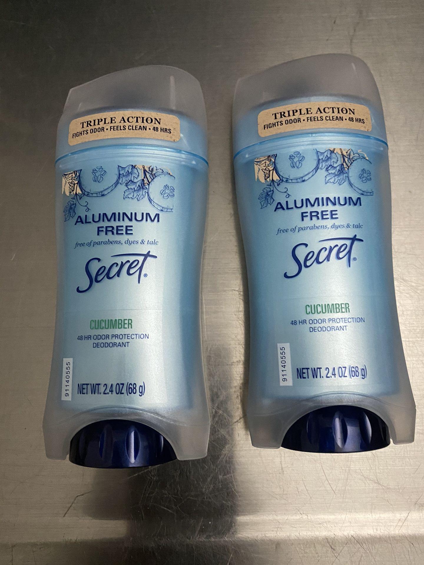 Secret Aluminum Free Deodorants