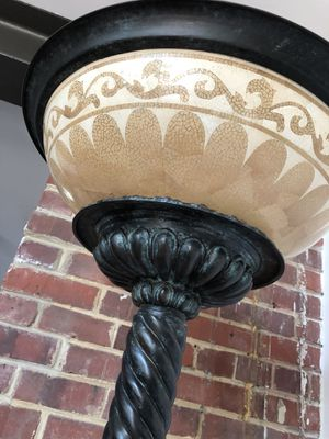 ANTIQUE Solid Bronze Patina Torchere Floor Lamp - From England! for Sale in Chevy Chase, MD