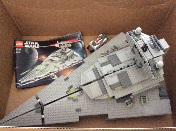 Lego 6211 Star Wars Imperial Destroyer Set Complete With Minifigs
