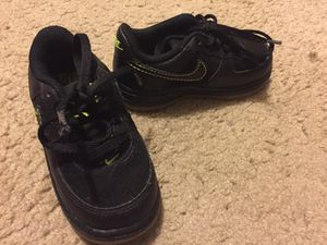 Kids black Nike Air Force 1s size 7c for Sale in Richmond, VA