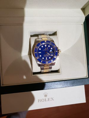 Rolex Submariner Ref. 116613LB Two Tone 18k Gold/Stainless Steel Flat (Smurf) Blue Limited Edition for Sale in Washington, DC