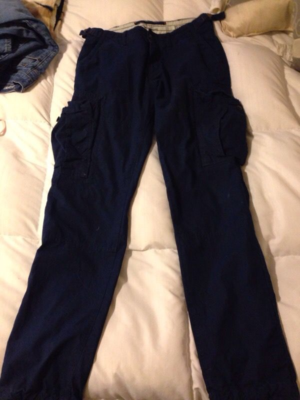 order online complete in specifications stable quality H&M men's size 31 dark blue cargo pants for Sale in Glendale, AZ - OfferUp