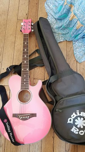 Daisy Rock Debutante Pink acoustic Guitar Katy Perry for Sale in Suisun  City, CA - OfferUp