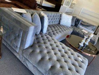 Prada Velvet Sectional Sofa  Thumbnail