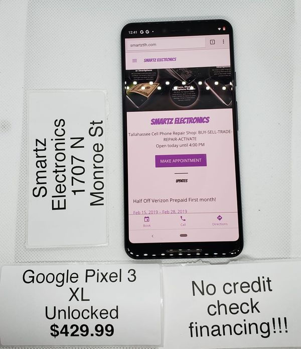 Google Pixel 3 XL Unlocked No Credit Check Financing for Sale in  Tallahassee, FL - OfferUp