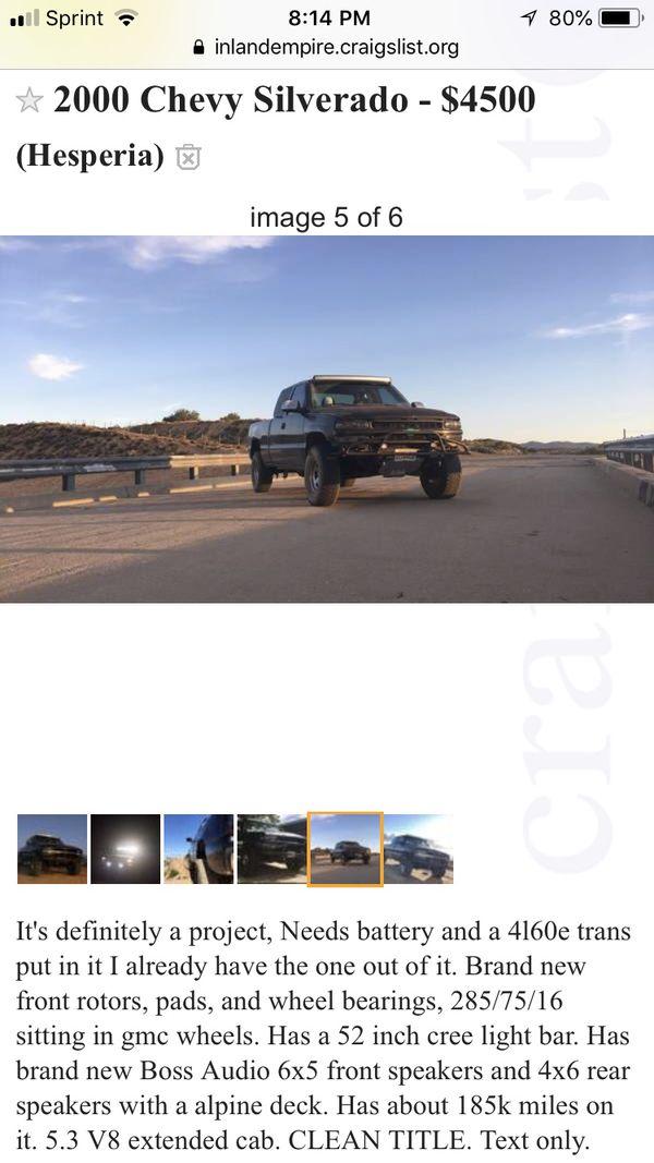 2000 Chevy Silverado for Sale in Hesperia, CA - OfferUp