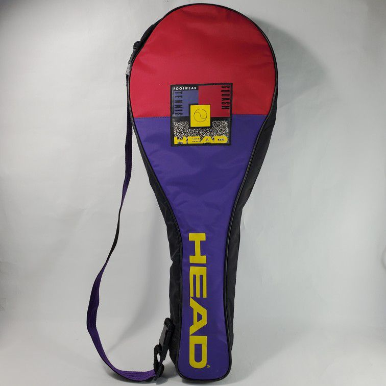 Head Tennis Multiple Rackets 2-3 Carry Bag Flap Closure Fron Pocket Purple Yellow Red