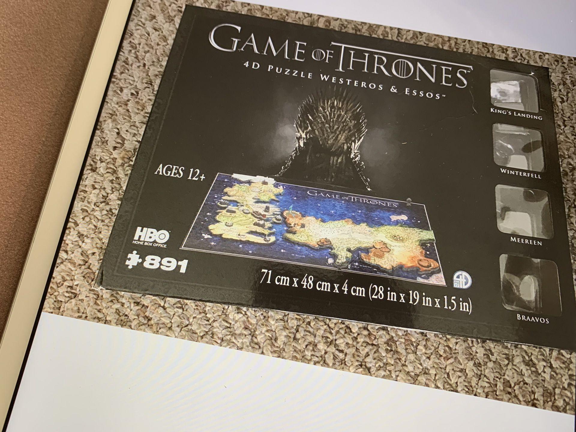 891 piece game of thrones 4D puzzle