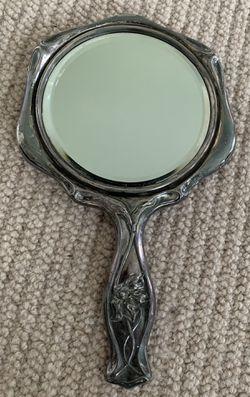 Vintage Silver-Plated Vanity Mirror Thumbnail