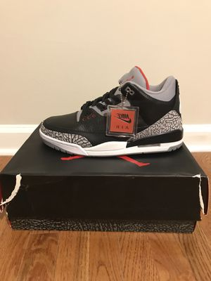 Ds Sz13 Air Jordan Black Cement Retro 3s for Sale in Richmond, VA