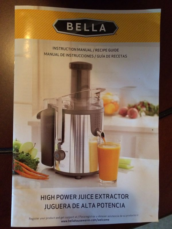 Bella High Power Juice Extractor Stainless Steel For Sale In San