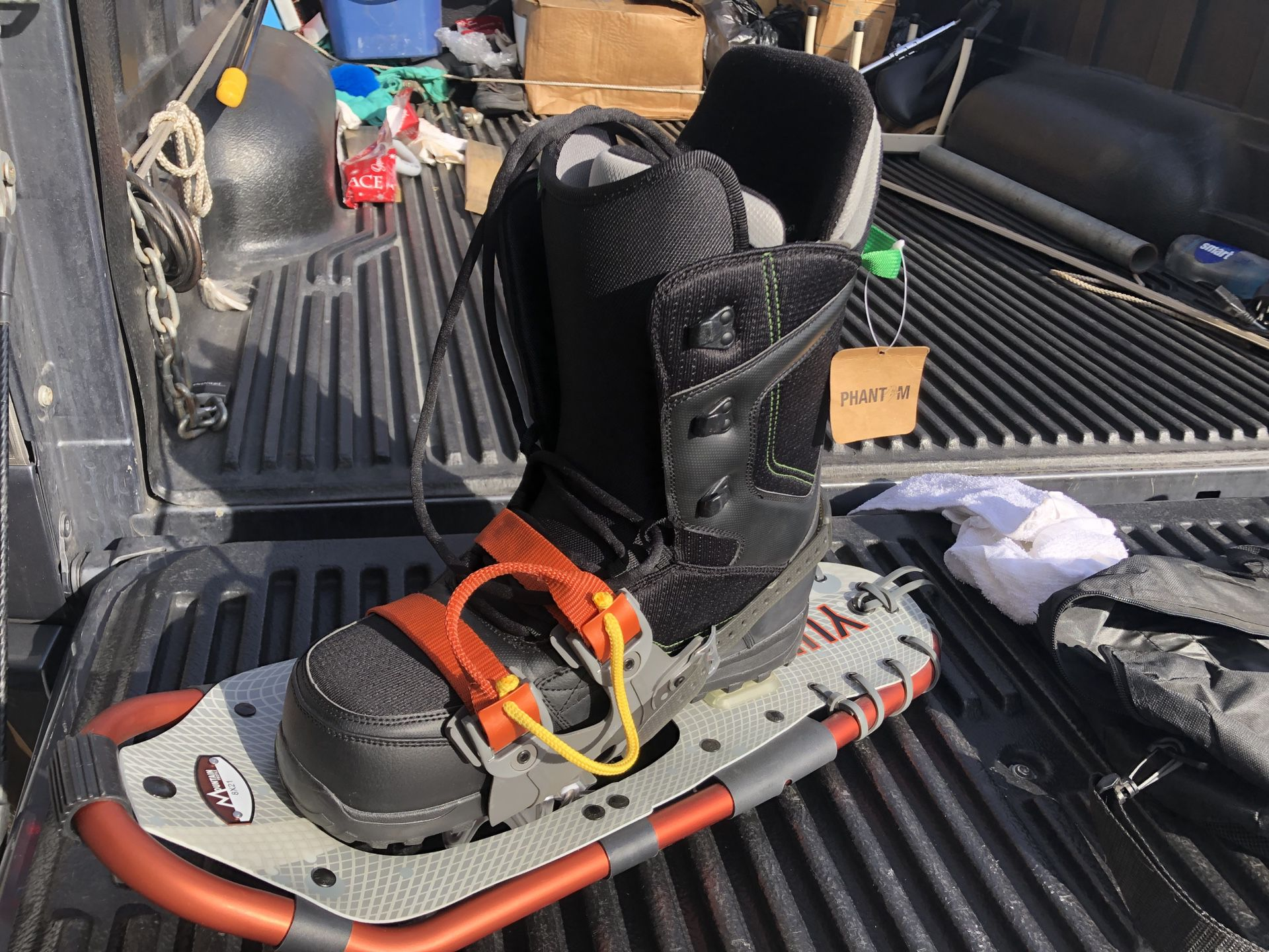 Snowboard Boots and Snowshoes