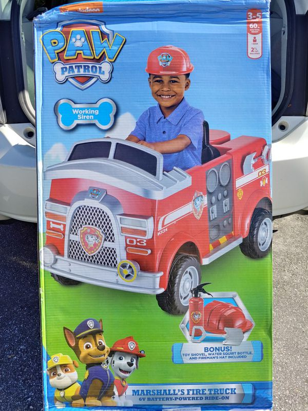 Paw Patrol Fire Truck Electric Car For Sale In Orlando Fl Offerup