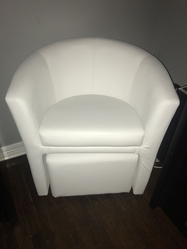 accent white leather chair with ottoman for sale in dallas tx offerup