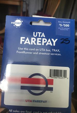 UTA farepay card for Sale in South Salt Lake, UT