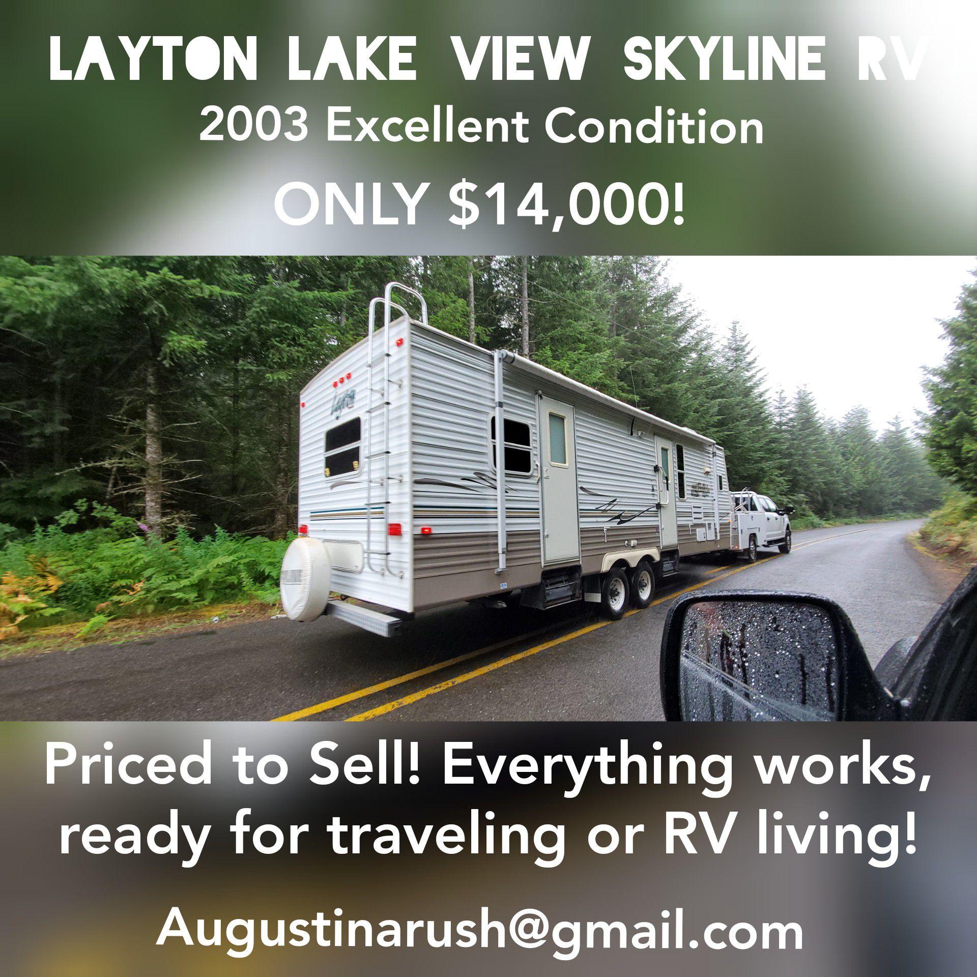 Photo Layton Lake View Skyline 29 RV 2003 Excellent Condition!!