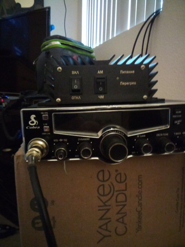 Got A Cobra Radio The Real Nice One That Has Scan And Has Even The Weather Has Talked Back Swrf Gain Dynamite And Noise Blanker Comes With An Amplifie