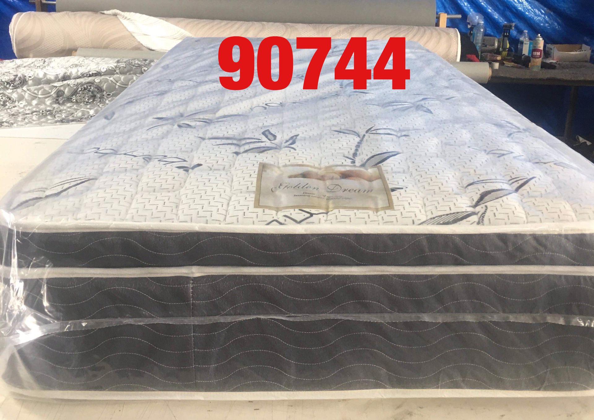 """12"""" thick pillow top mattress.  Twin  Mattress only-$185 Mattress & box spring-$220  Full Mattress only-$255 Mattress and box spring-$285  Queen Matt"""