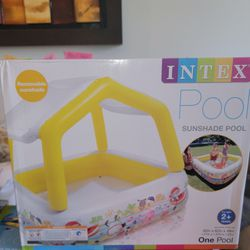 Intex Inflatable Ocean Scene Sun Shade Kids Swimming Pool with Canopy Thumbnail