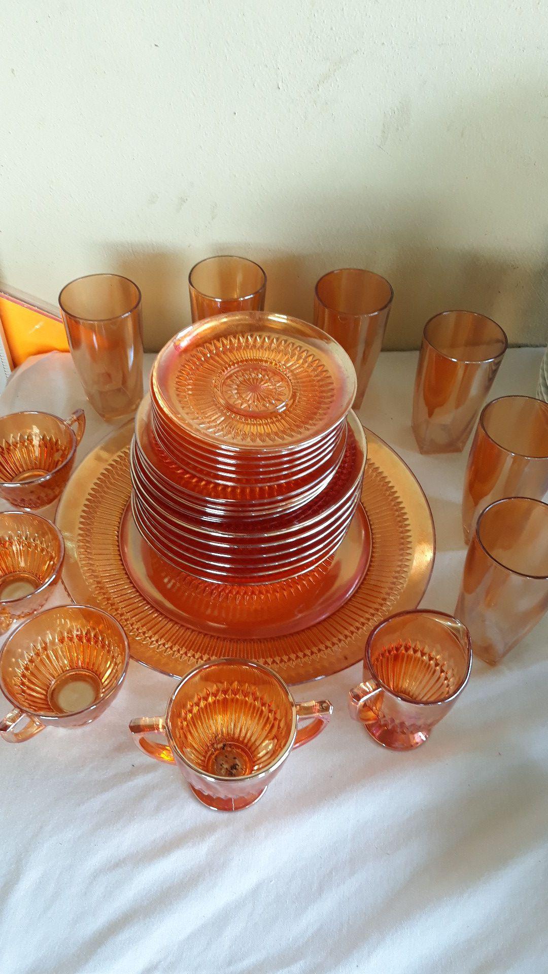Carnival Glass set