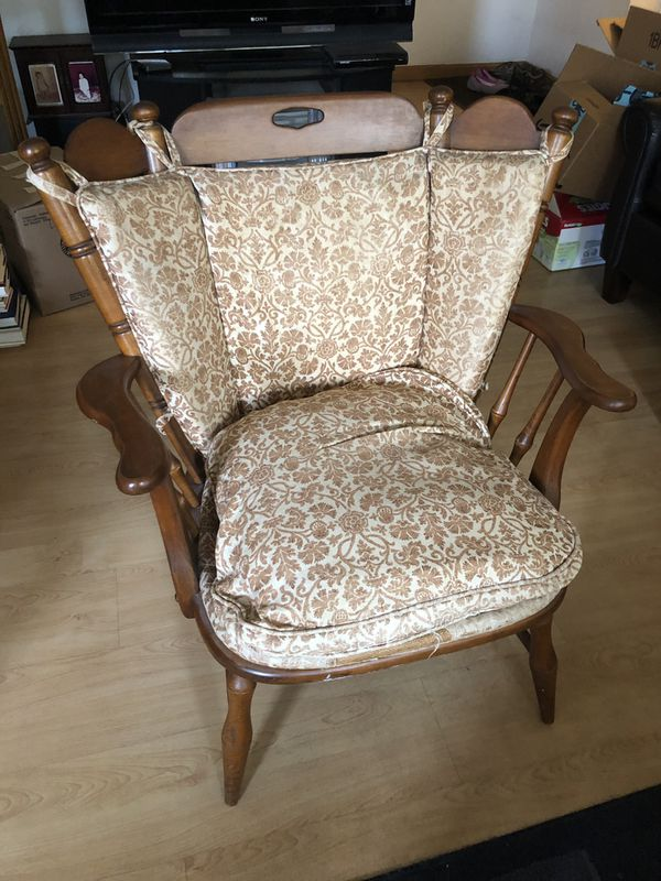 Wooden Armchair With Cushion For Sale In Sunnyvale Ca Offerup