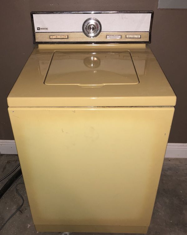 Vintage 1960s Maytag Washing Machine In Harvest Gold For