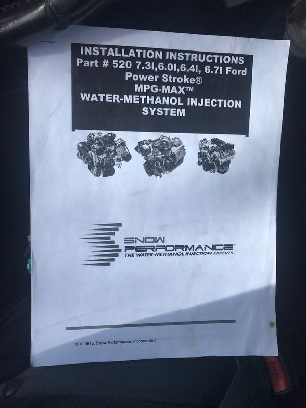 Snow Performance Water Methanol Injection Setup For Sale In San