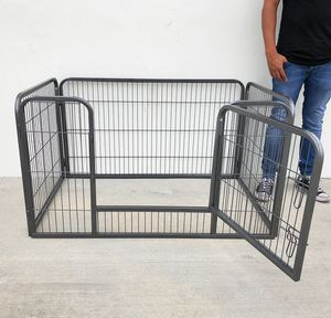"""Photo New $75 Heavy Duty 49""""x32""""x28"""" Pet Playpen Dog Crate Kennel Exercise Cage Fence, 4-Panels"""