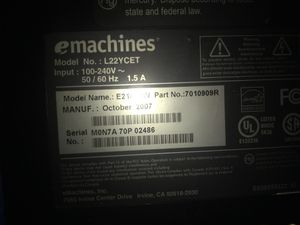 E machines monitor not great condition probably works? 2$ it it works what a deal💻🔌 for Sale in Salt Lake City, UT
