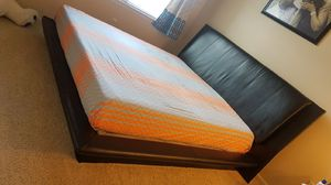 King size bed frame with box and mattress for Sale in Herndon, VA