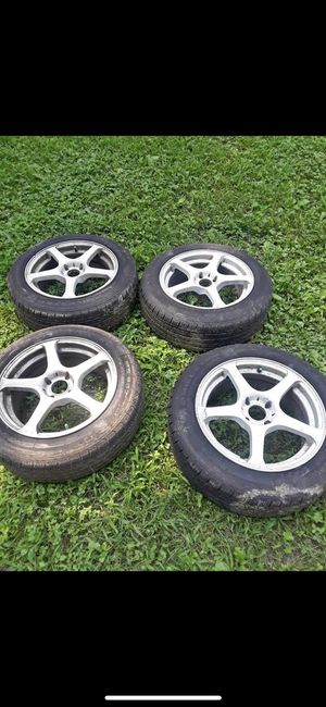 4 new tires with rims for Sale in Ashburn, VA