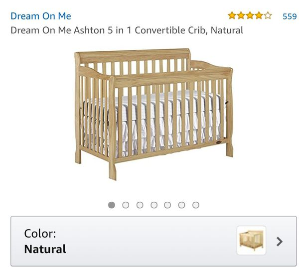 5233dad359d New Dream On Me Ashton 5 in 1 Convertible Crib