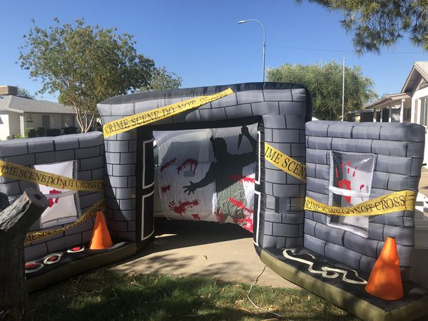 RARE Airblown inflatable Halloween crime scene lightshow blowup yard  decoration for Sale in Glendale, AZ - OfferUp