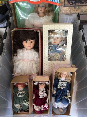 Porcelain dolls $5 ea large $7 or take all for $25 for Sale in Centreville, VA