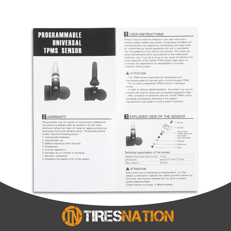 (1) Tire Air Pressure Sensor TPMS Rubber Valve For MINI MiniHatch 2010-13