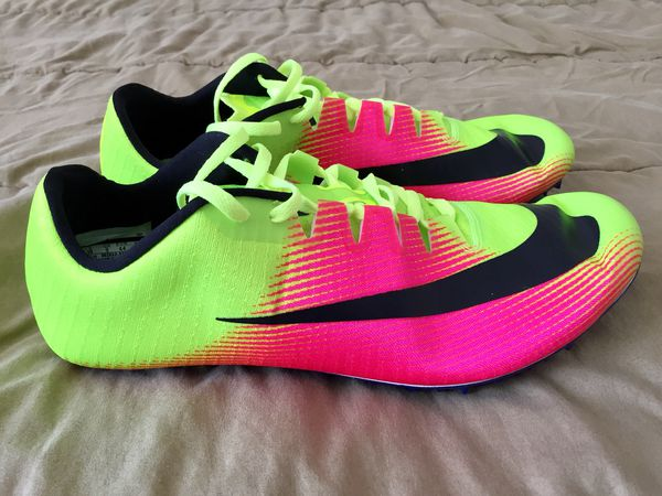 a0cd8a0aac6fe Nike Zoom JA FLY 3 OC Rio Track Field Spikes Pink Volt 882032-999 Mens  Sizes 10 or 10.5 NEW