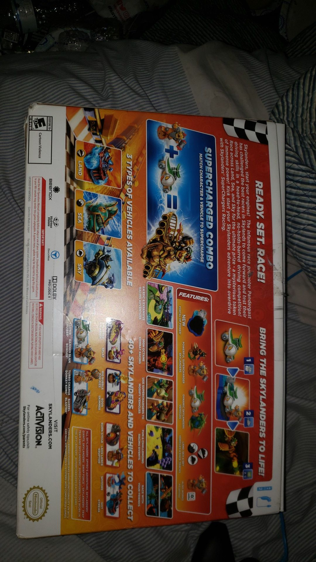 Skylanders superchargers racing for the wii