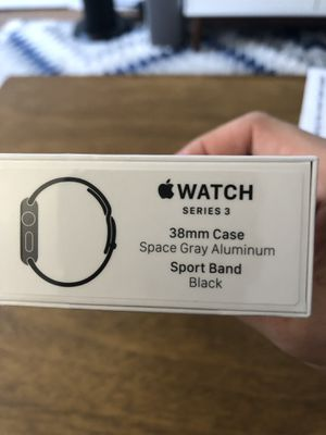 Apple Watch Series 3 - 38MM Space Grey with Black Band - Brand New for Sale in Santa Monica, CA