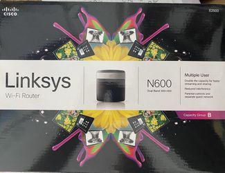Linksys WiFi Router E2500 N600 Dual Band Thumbnail