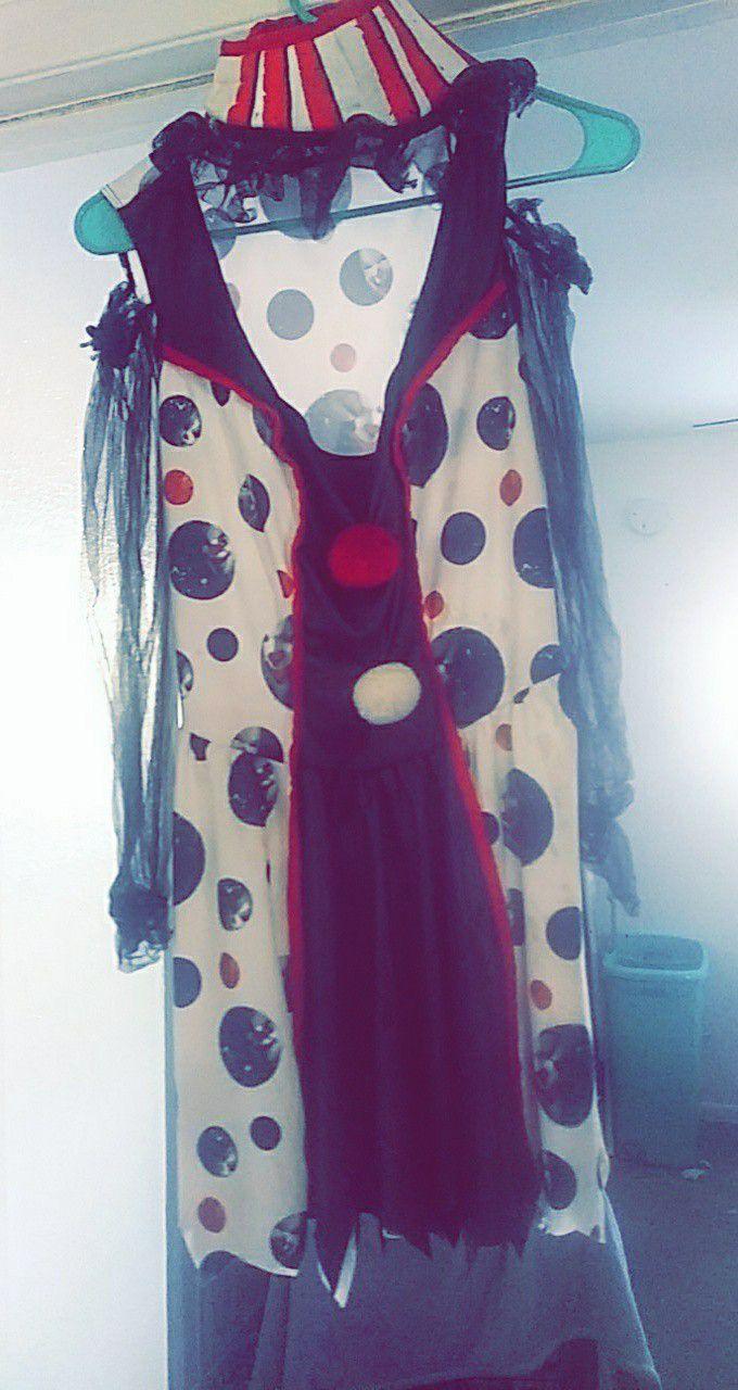 Women's killer clown costume