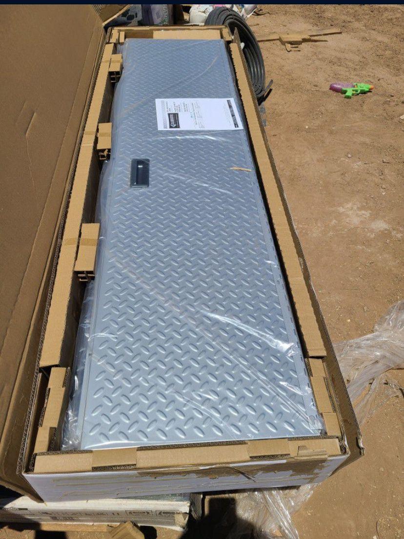 Gladiator Ready-to-Assemble Steel Freestanding Garage Cabinet in Silver Tread (36 in. W x 72 in. H x 18 in. D)
