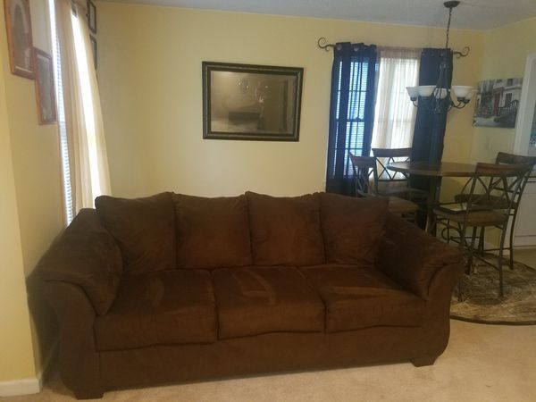 Fine Ashley Furniture Darcy Sofa Loveseat Chocolate Mint Condition Smoke Pet Allergy Free For Sale In Irmo Sc Offerup Interior Design Ideas Apansoteloinfo