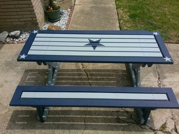 DALLAS COWBOYS PICNIC TABLE For Sale In Cape Coral FL OfferUp - Dallas cowboys picnic table