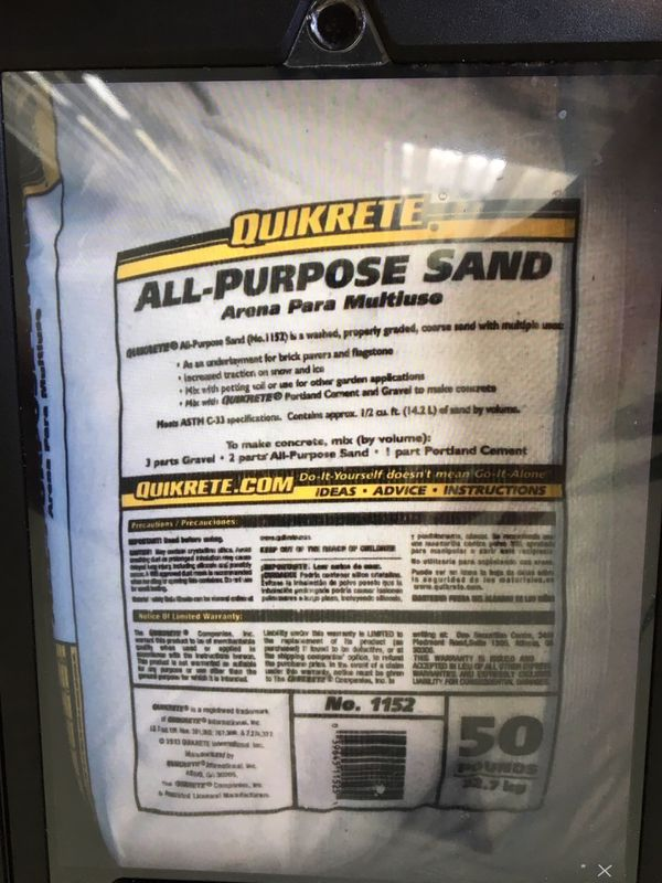 All Purpose Sand Quikrete For Sale In West Palm Beach Fl Offerup