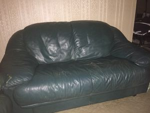 Green Leather Couch For In Worcester Ma