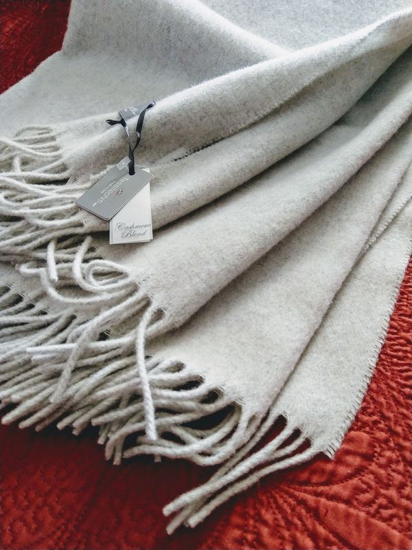 Tessilechiti Oversized Cashmere Blend Throw For Sale In