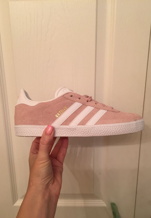 billig Adidas Gazelle shoes Ice Pink white and Gold for Sale ...