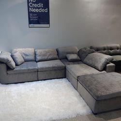 Same Day Delivery!🚚💨 -Lima Modular Sectional Sofa w/Ottoman-**90 Days Interest Free**  Thumbnail