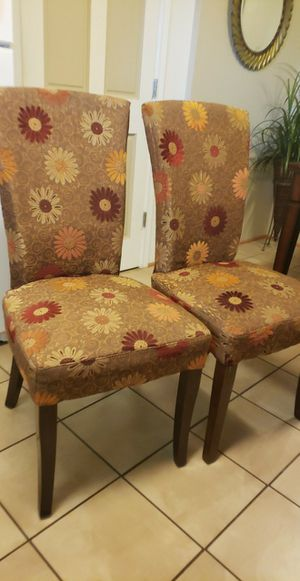 Photo A pair of Pier One dining chairs